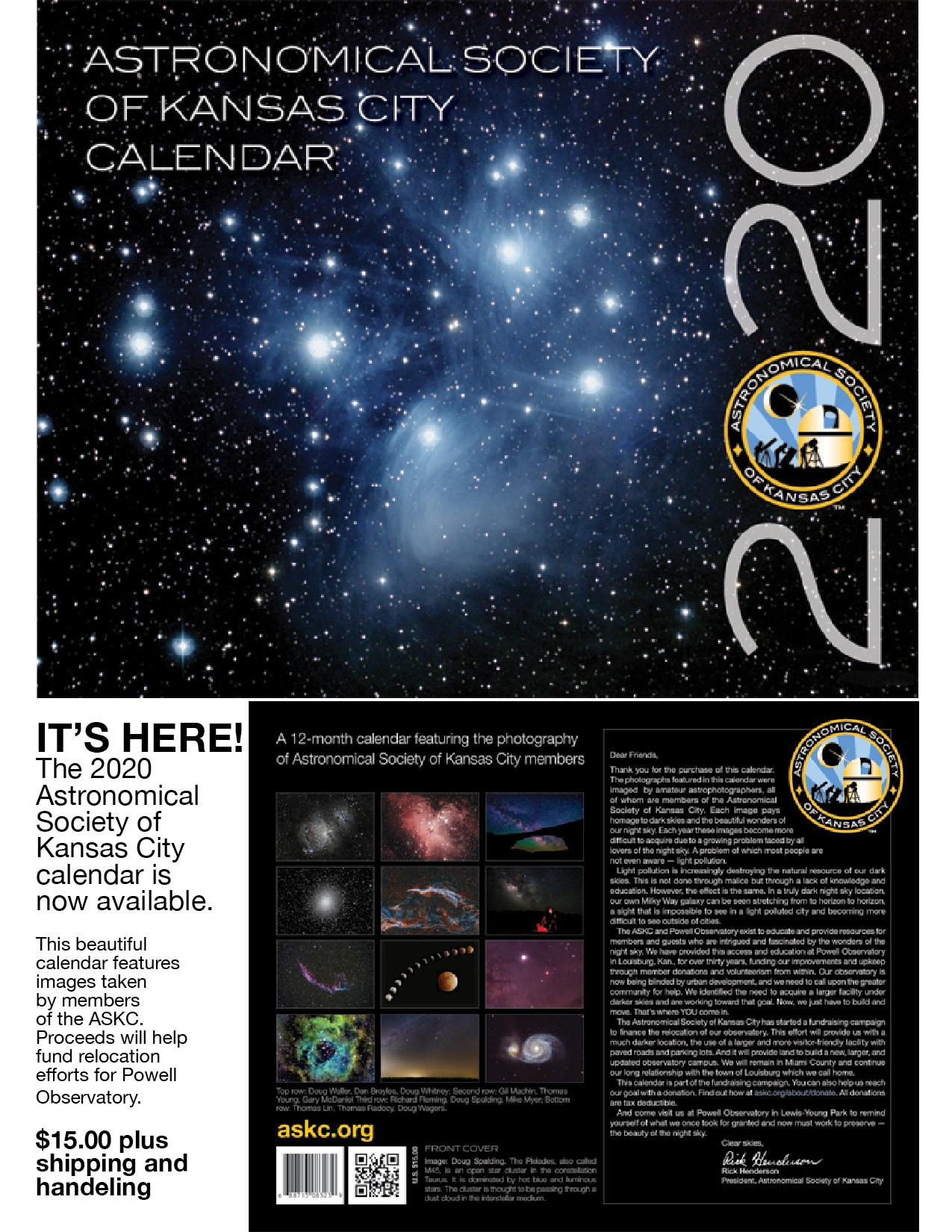 2020 ASKC Calendar